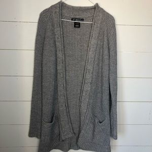 Sweaters - Thick Gray Knit Cardigan